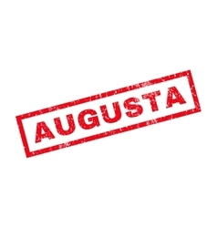 Augusta rubber stamp vector
