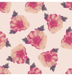 Bouquet of pink peony flowers seamless pattern vector