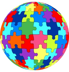 Puzzle ball vector image