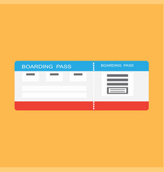 isolated ticket of travel vector image