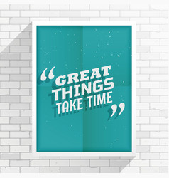 Inspirational quotation vector