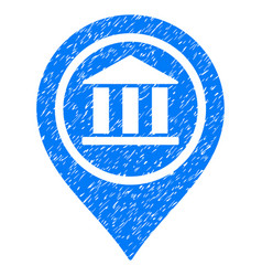 bank map pointer grunge icon vector image