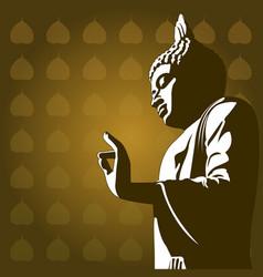 Buddhist background vector