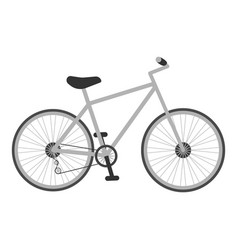 Grey bicycle for kids isolated on a white vector