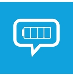 Empty battery message icon vector