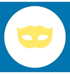 Privacy mask flat yellow and white colors round vector