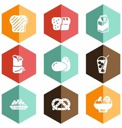 Solid icons food beverage vector