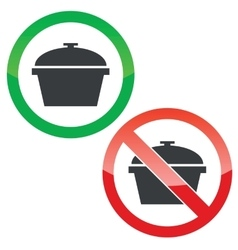 Pot permission signs set vector