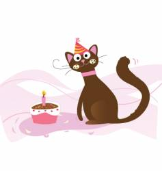 birthday cat vector image