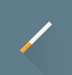 Flat usual cigarette icon vector