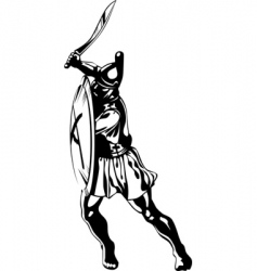 Ancient greek hero vector