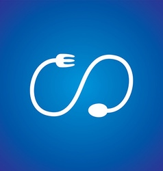 Spoon and fork logo theme vector