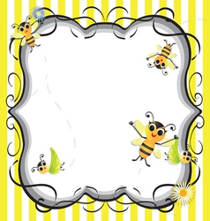 Bee baby shower party invitation vector