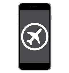 Mobile phone airplane mode vector