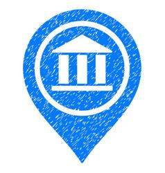 Bank map pointer grunge icon vector