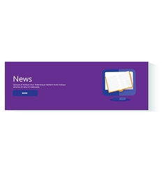 Banner news vector image