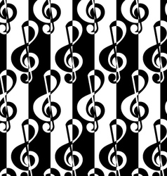 Black and white alternating g clef half and half vector