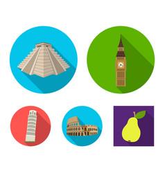 Building landmark bridge stone countries vector