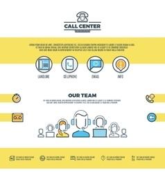 Call center support customer service web vector