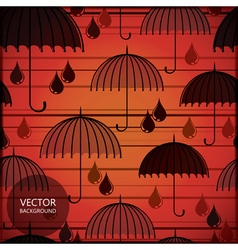 Card with umbrellas vector