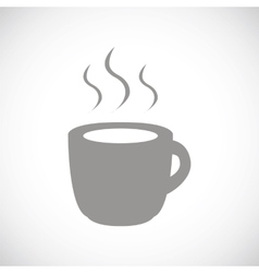 Coffee black icon vector