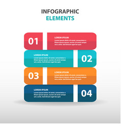 colorful abstract business infographics elements vector image vector image