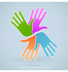 Creative People Hands Symbol vector image