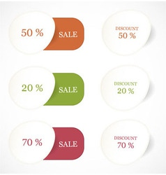 Discount labels and stickers vector image vector image