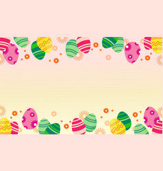 Easter egg greeting card style vector
