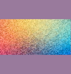 Flat horizontal banner with square shapes vector