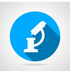 Flat round icon for microscope vector image