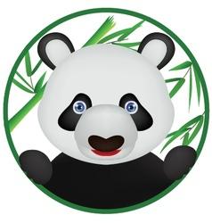 funny panda cartoon vector image vector image