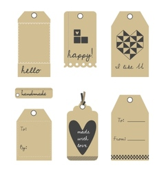gift tags or labels set vector image