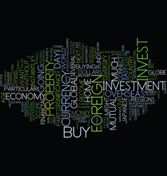 Global investment from home text background word vector