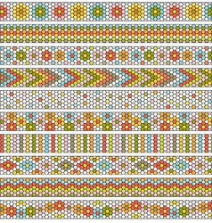 hexagon border patterns vector image