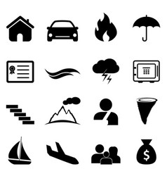 insurance and disaster icon vector image vector image