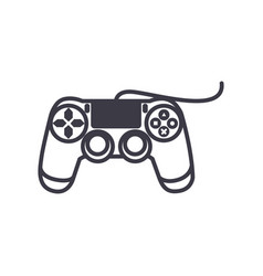 joystick console line icon sign vector image vector image