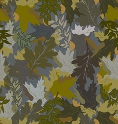 Khaki background with autumn leaves 2 vector