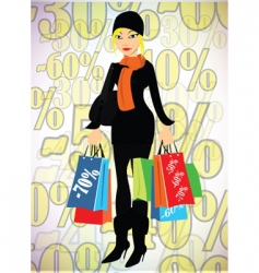 lady shopper vector image