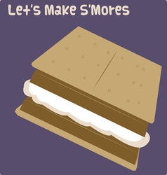 Lets make smores vector