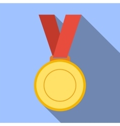Medal achievement award banner blank bright vector