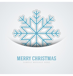 Merry christmas card and snowflake decoration vector