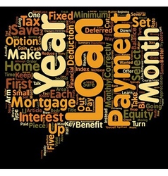 Mortgage loans what s the catch text background vector