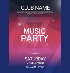 Music party edm sound triangle poster electronic vector