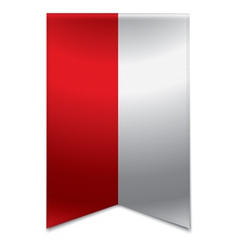 Ribbon banner - polish flag vector image