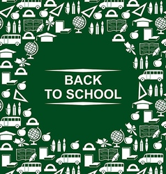 school background green vector image vector image