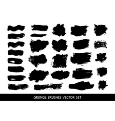 Set of black paint vector image vector image