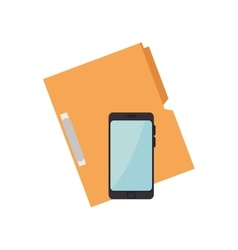 Smartphone and document binder vector