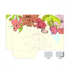 template for gift folder vector image vector image
