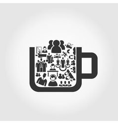 User a cup vector image vector image